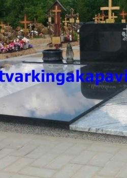 Wiscont white ir juodas Karelijos granitas