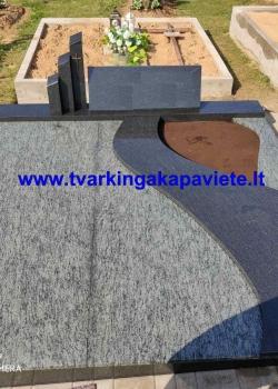 Olive green ir juodas Karelijos granitas