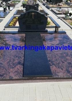 Indiška Aurora ir juodas Karelijos granitas