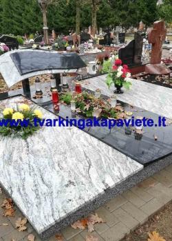 Viscont white ir juodas Karelijos granitas