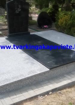 G623 ir juodas Karelijos granitas