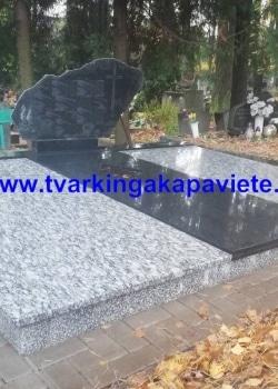 Sea wave white ir juodas Karelijos granitas