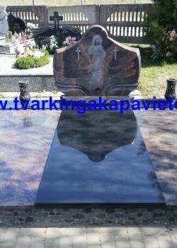 Suomiška Aurora ir juodas Karelijos granitas