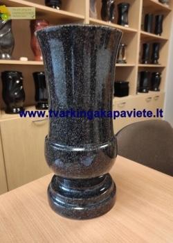 VZ055. Pilka akmens masės vaza 36x16. Gali būti įvairių spalvų